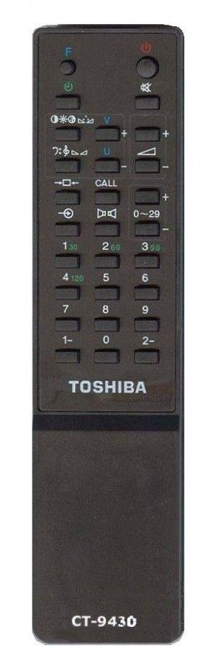 Пульт для Toshiba CT-9430, CT-9292 , CT-9381, CT-9293, CT-9396, CT-9565 (TV) (1400RB, 1400RT, 140R4T, 1445XSV, 15T8W, 2045XSV, 2100RBT, 2101TBT, 2102RT, 2104XS, 2104XS1, 2125XSR, 215R8W, 21807S, 218D7S, 219X9S, 2505DD, 2506XH)