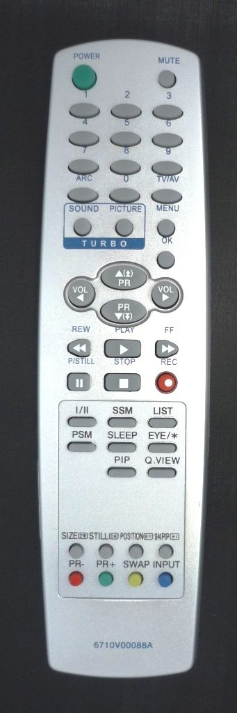 LG 6710V00088A (TV,VCR) (RT-29FA35VE, RT-29FA55RB, RT-29FB35RX, RT-29FB35VX, RT-29FB55, RT-29FB55R, RT-29FB55RB, RT-29FB55RE, RT-29FB55RP, RT-29FB55RQ, RT-29FB55RX, RT-29FB55V, RT-29FB55VB, RT-29FB75RB, RT-29FB75VQ, RT-29FD15R)