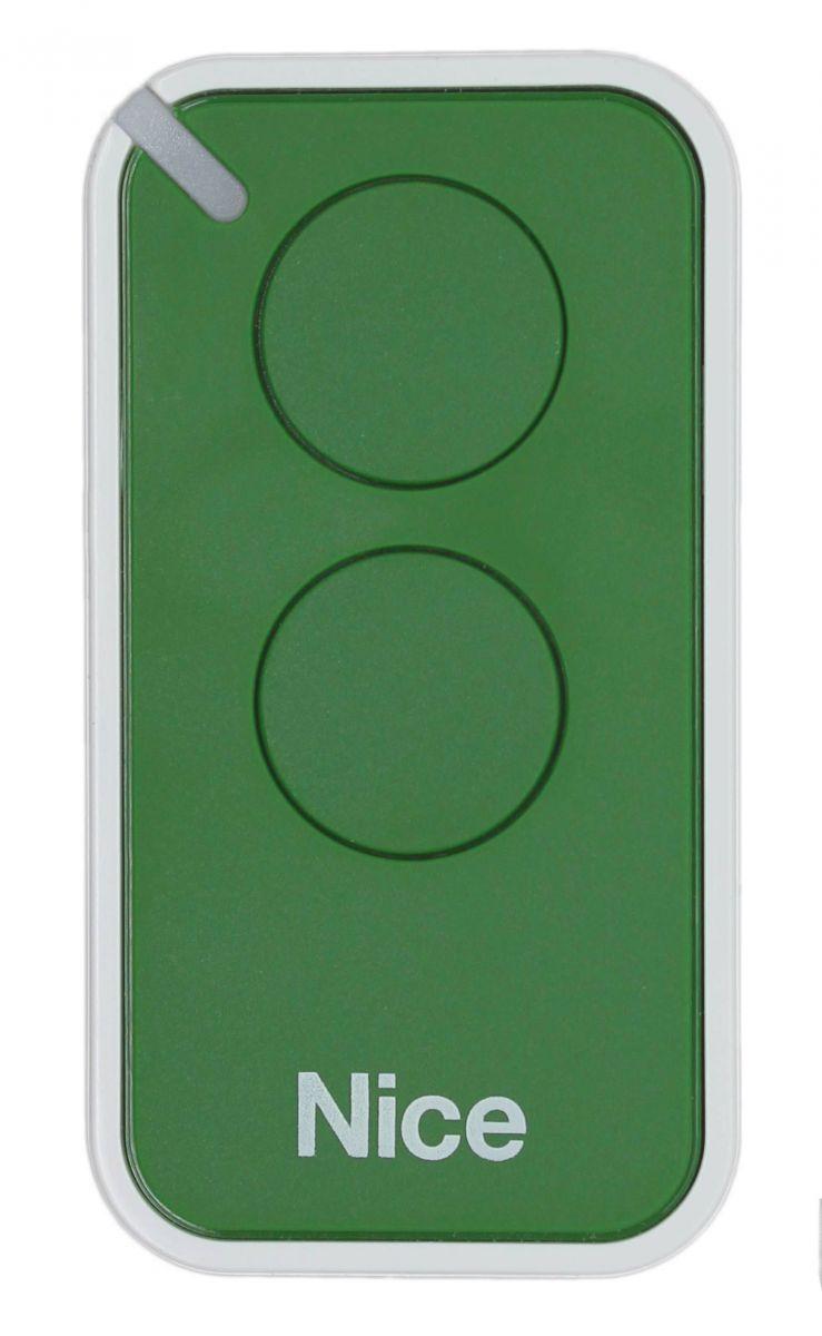 Пульт Nice INTI2G, динамический код, зеленого цвета.