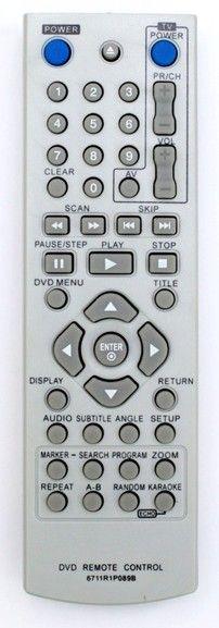 Пульт для 6711R1P089L, 6711R1P089B (DVD) (DGK-685X, DK-673X, DK-676X, DK-677X, DK-678X, DK-764, DK-765, DKU-860)