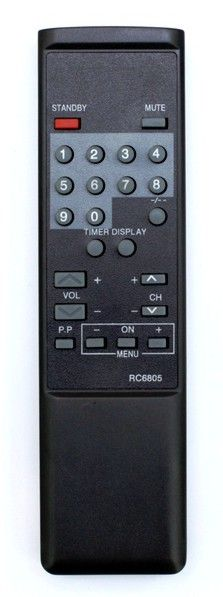 Пульт для Philips RC6805/01 (TV) (142021IR, 142401IR, 14CD1236, 14CR1036, 14CR1236, 14CR1239, 14GR1021, 14GR1022, 14GR1023, 14GR1024, 14GR1033, 14GR1034, 14GR1036, 14GR1220, 14GR1221, 14GR1222, 14GR1223, 14GR1224, 14GR1225, 14GR1228/50R, 14GR1229)