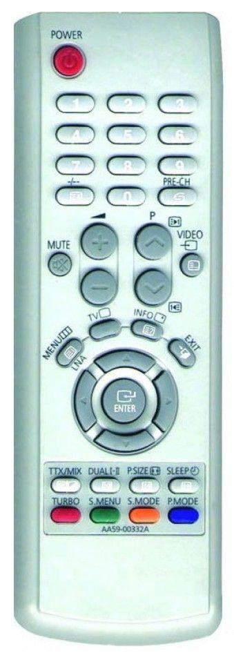 Пульт для Samsung AA59-00328A (TV) (LW17M11C LW17M11CX/BWT LW20M11C LW20M11CX/BWT PS-42D4S PS-42D4SKR PS42D4SKX/AAG PS42D4SKX/BWT PS-42D4SR PS42D4SX/BWT)