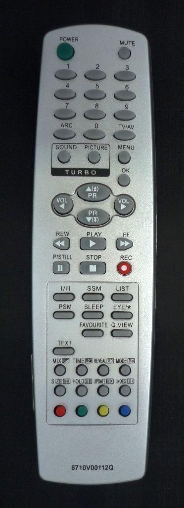 LG 6710V00112Q (TV) (CT-25Q25RQ, RT-25FB36VX, CT-29K35VE)